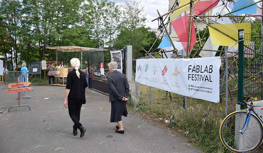 L'entrée du FabLab Festival.