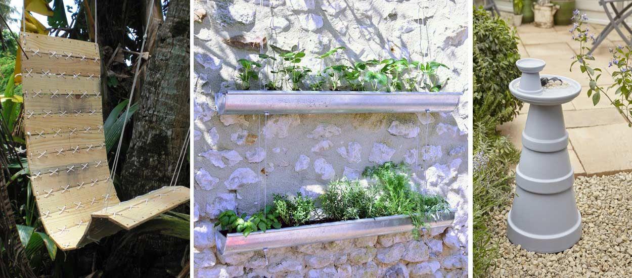 15 tutos récup' ou ludiques pour un jardin extraordinaire !