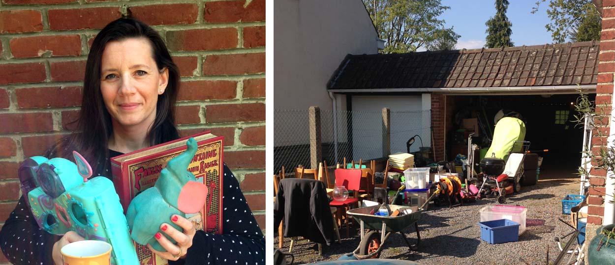 trier ses objets avant une brocante d barrasser son garage pour vendre les objets en vide. Black Bedroom Furniture Sets. Home Design Ideas