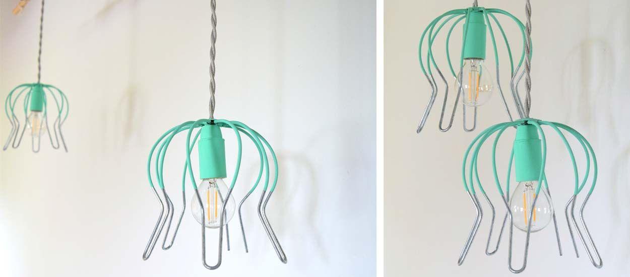 Tuto : Fabriquez une lampe suspendue récup' et originale avec une crapaudine