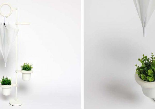 design intemporel 80ec6 272e7 Un porte parapluie qui arrose les plantes - Comment ranger ...