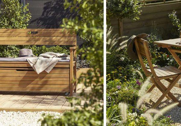 Meubles de jardin en bois Denia de Castorama : design et pas ...