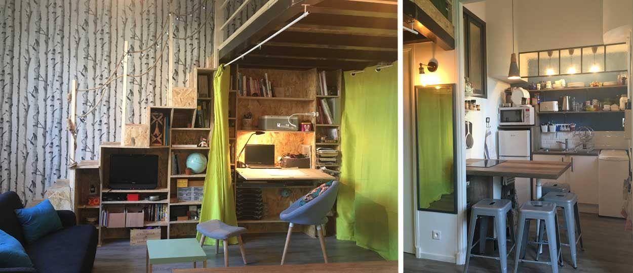 transformer un petit studio en un petit loft pour une famille vivre 4 dans moins de 30m2. Black Bedroom Furniture Sets. Home Design Ideas