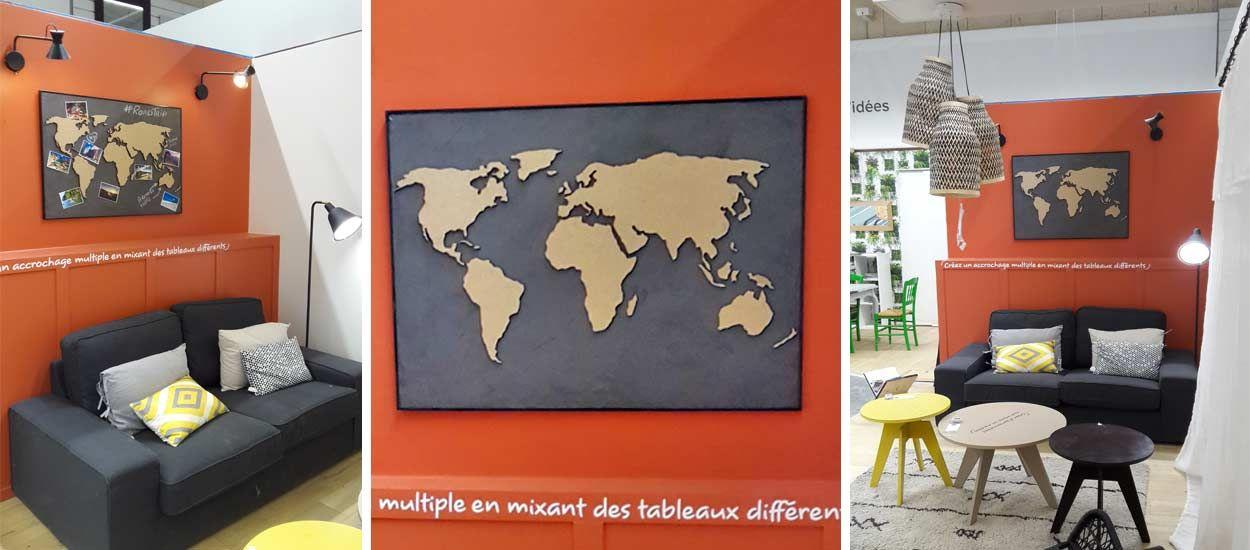 fabriquez une carte du monde d co en bois une mappemonde d co en diy. Black Bedroom Furniture Sets. Home Design Ideas