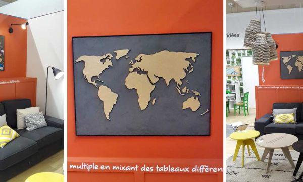 Tuto : Fabriquez un planisphère déco en bois