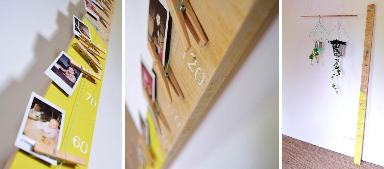 Tuto Toise Chambre Enfant : Cadeau de naissance original fabriquez une toise en bois