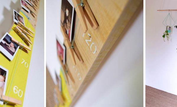 Tuto : Fabriquez une toise en bois et accrochez-y les photos de vos enfants !