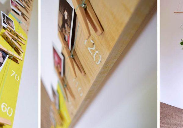 Cadeau de naissance original : fabriquez une toise en bois ...