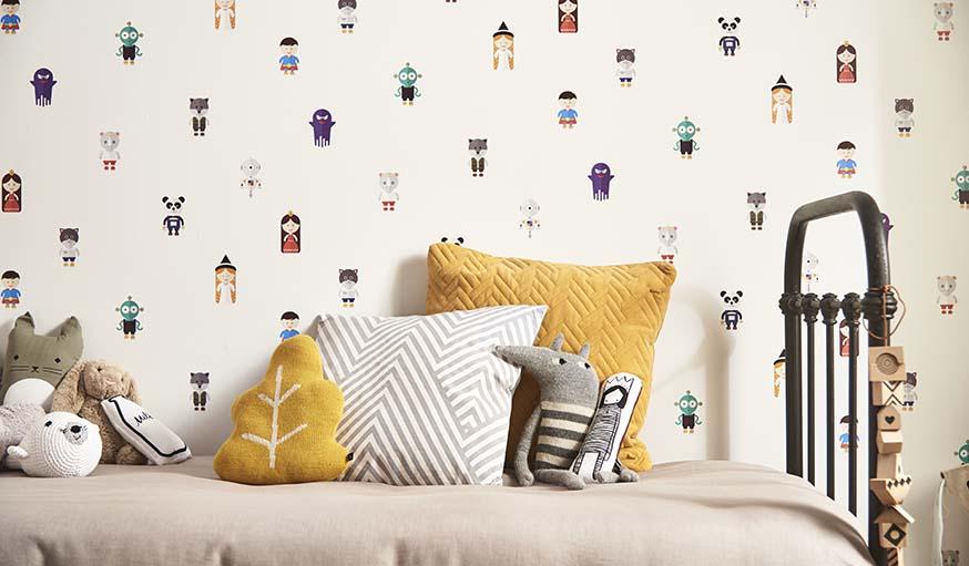 et si le papier peint de vos enfants racontait des histoires. Black Bedroom Furniture Sets. Home Design Ideas