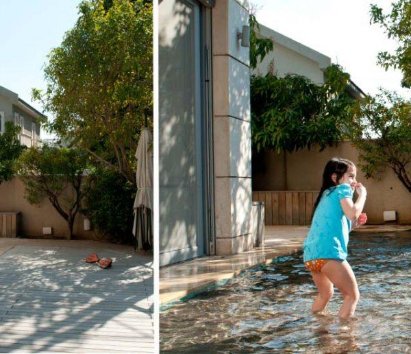 Cette piscine se transforme en terrasse en un clin d'œil grâce à son fond mobile
