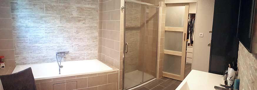 La salle de bains après !