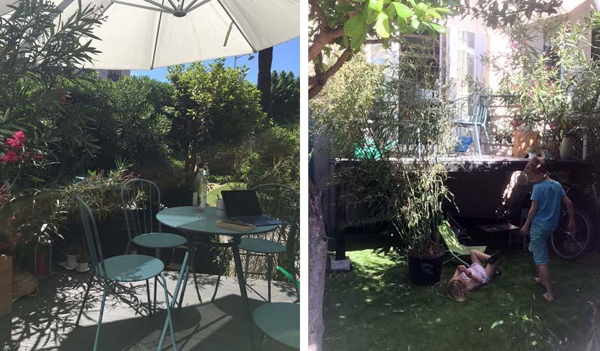 Le jardin, ouverture vers l'extérieur du Tinyloft.