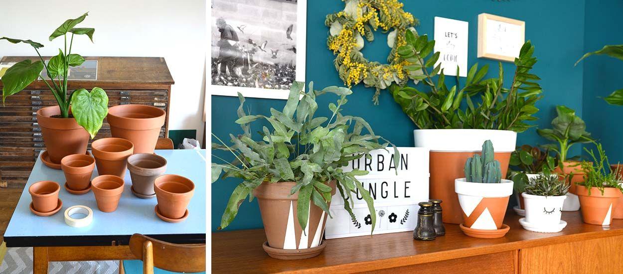 Tuto : Relookez de vieux pots de fleurs pour une déco tendance Urban Jungle