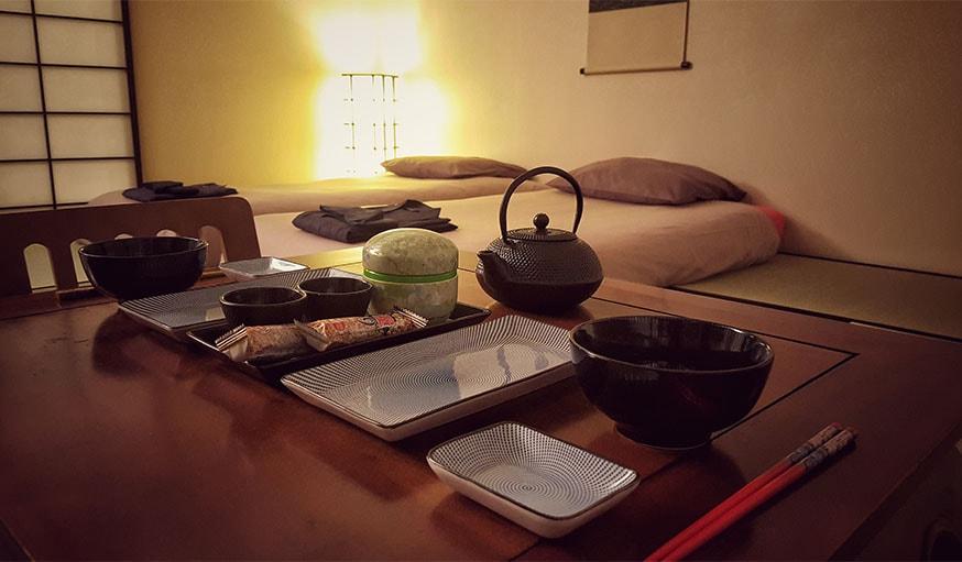 L'appartement transformé en ryokan à Nantes.