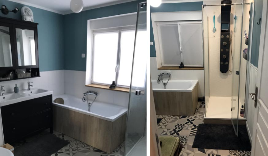 La nouvelle salle de bains.