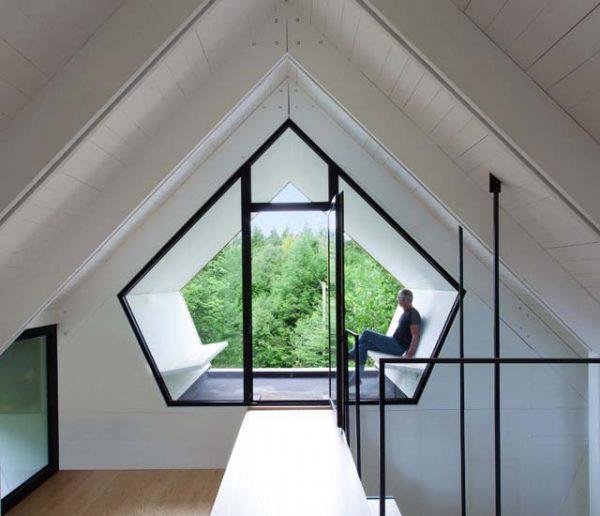 Une maison étonnante avec vue sur la cime des arbres