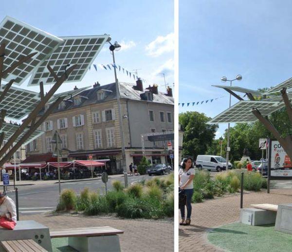 Le premier arbre solaire d'Europe planté à Nevers