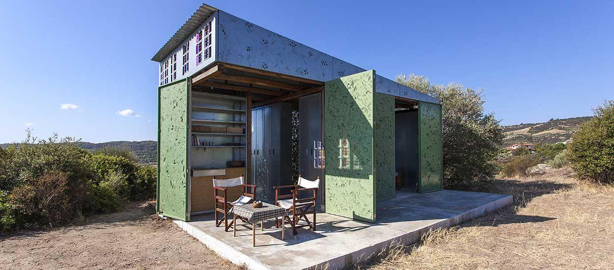Découvrez cette charmante maison vert olive au parfum de farniente