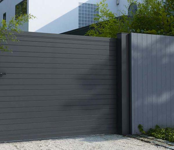 Perfect portail coulissant tous les conseils avant with cloture composite castorama with cloture - Castorama jardin claustra besancon ...