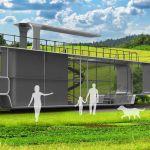 L'ingénier Charles Bombardier a conçu un nouveau concept de maison posé sur des rails
