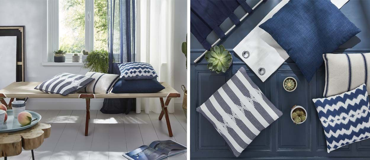 Déco : le bleu indigo, couleur de saison