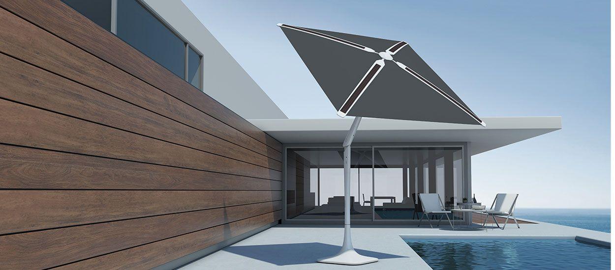 Jardin : ce parasol tournesol suit le soleil et recharge vos batteries