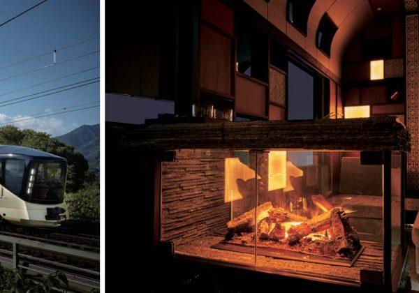 Le dernier train japonais de luxe avec cheminée et salle de ...