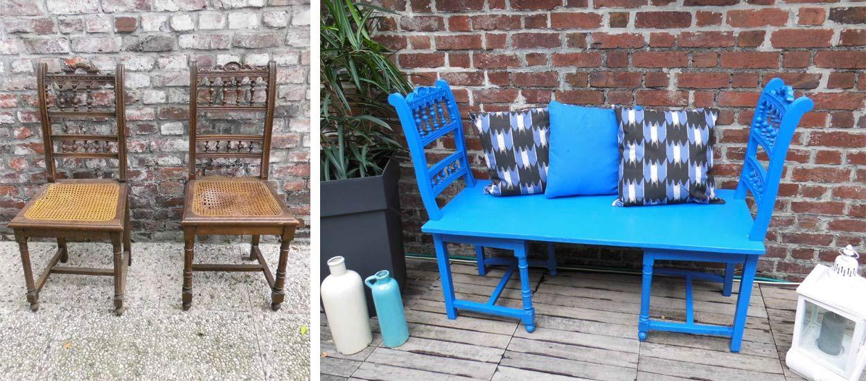 Tuto : Transformez de vieilles chaises en un joli banc d'extérieur
