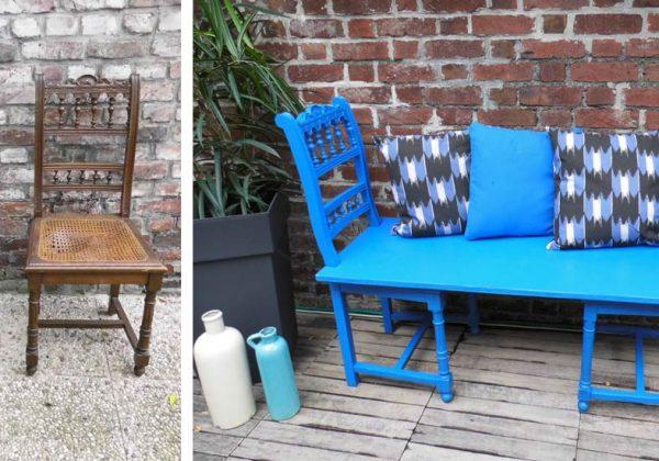 Fabriquez un banc de jardin avec des anciennes chaises pour ...