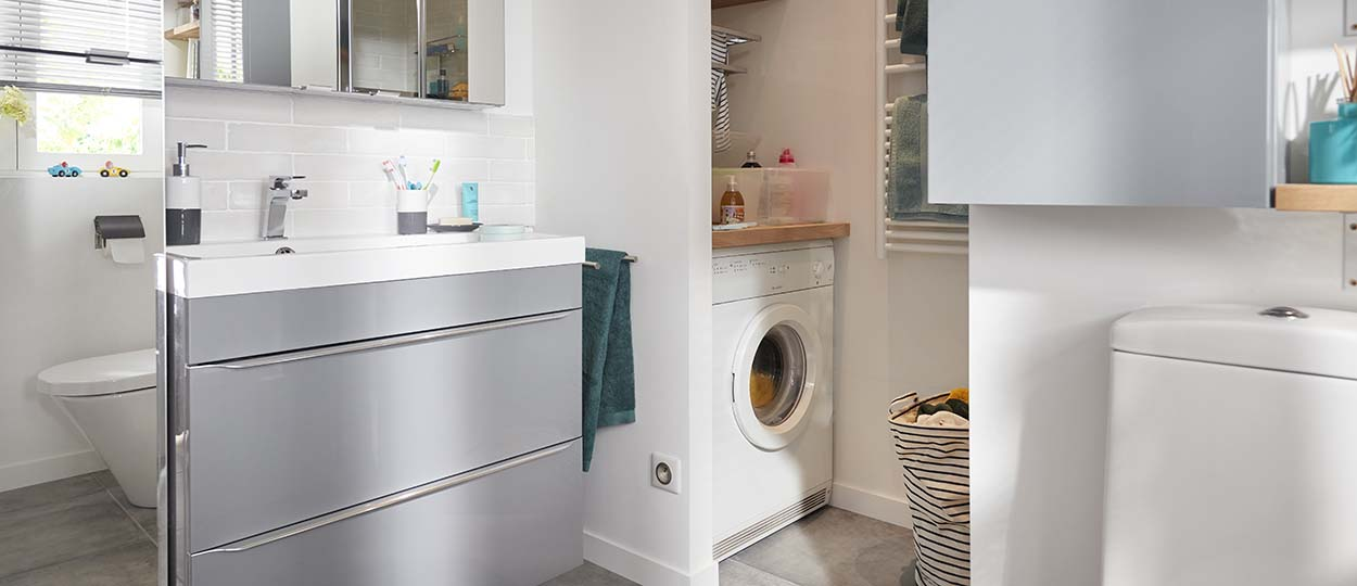 comment am nager une petite salle de bains pour gagner de la place. Black Bedroom Furniture Sets. Home Design Ideas