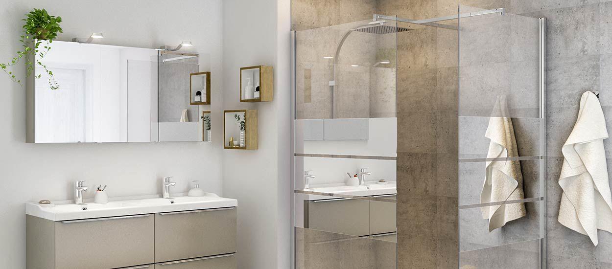 Beloya une paroi de douche modulable pour toute les - Miroir sur mesure castorama ...