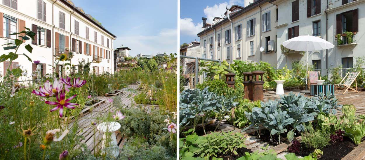 Inspiration : Et si vous transformiez votre toit en jardin, comme sur cet immeuble ?