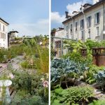 Le toit terrasse du studio d'architecture Piuarch, à Milan, en Italie.