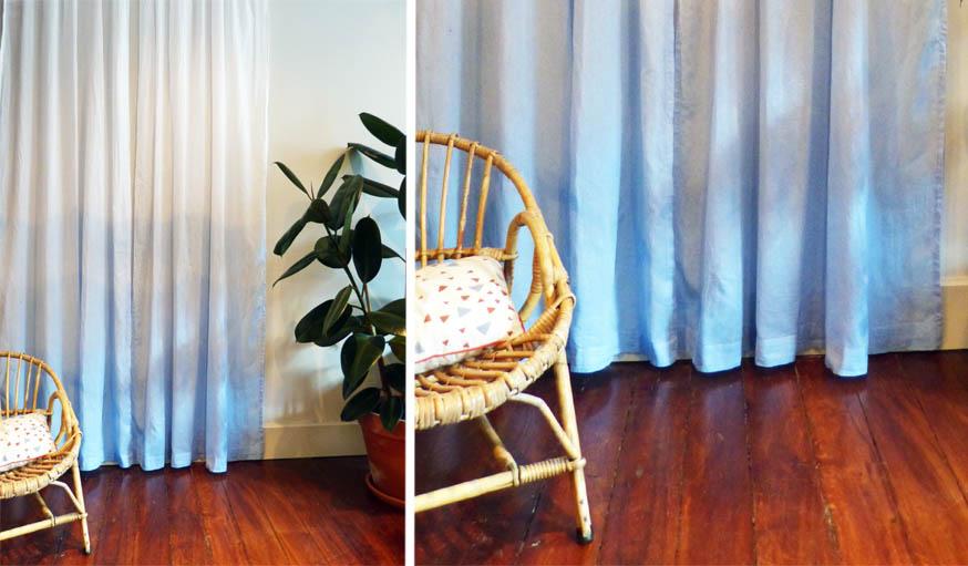 diy faire un tie and dye teindre des rideaux avec un. Black Bedroom Furniture Sets. Home Design Ideas