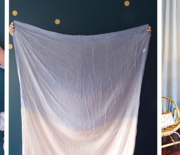 Tuto : Customisez vos rideaux avec un tie and dye délicat et fait maison