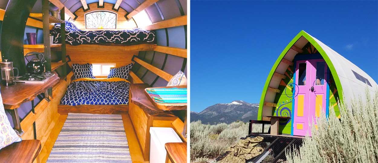 il transforme des roulottes en bulle de d tente vivre dans une mini maison mobile multicolore. Black Bedroom Furniture Sets. Home Design Ideas