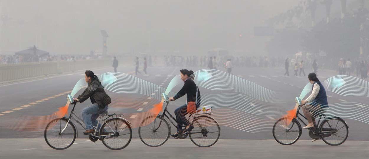 Pédaler pour dépolluer l'air des villes