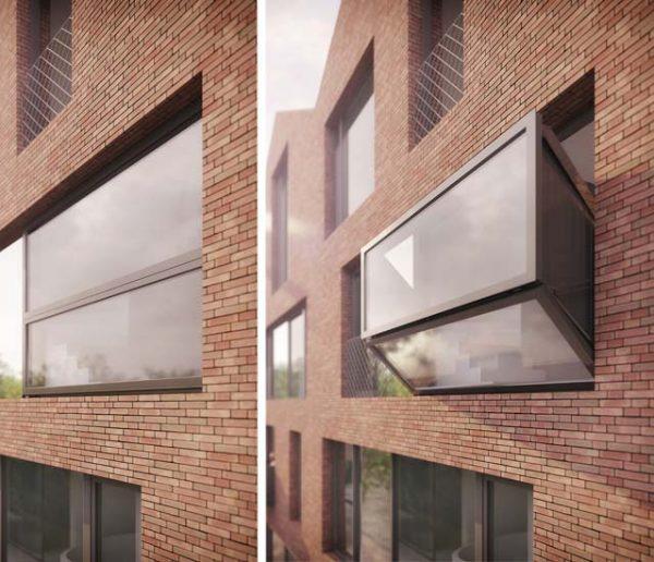 Spectaculaire : cette fenêtre se transforme en balcon de verre