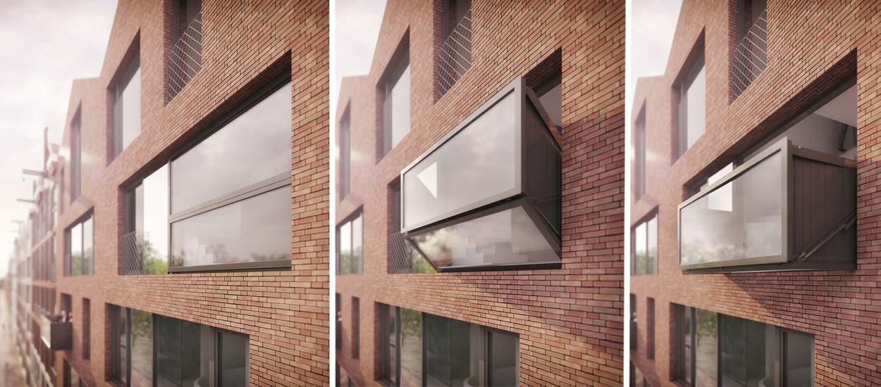 bloomframe la fen tre design qui se transforme en balcon hofman dujardin. Black Bedroom Furniture Sets. Home Design Ideas