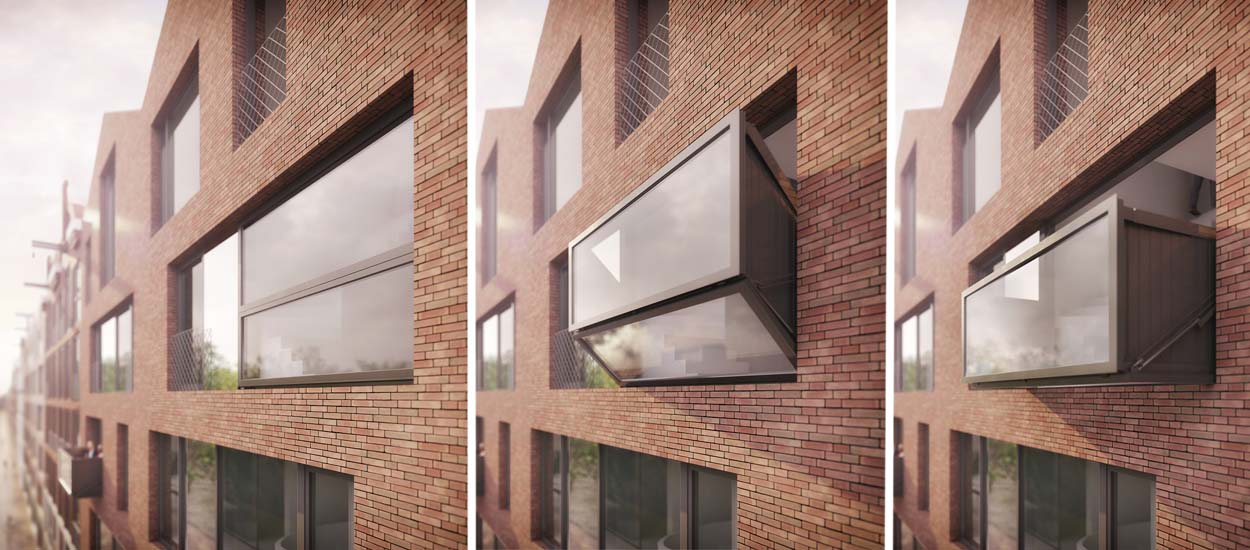 Bloomframe la fen tre design qui se transforme en balcon for Fenetre balcon