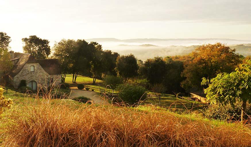 Vue sur la vallée de la Dordogne.