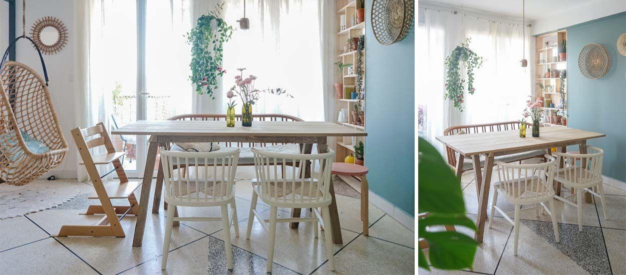 Tuto : Fabriquez une belle table pour salle à manger esprit rustique et contemporaine