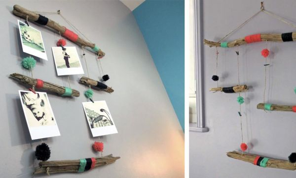 Tuto déco : Créez un porte-photo original avec du bois flotté