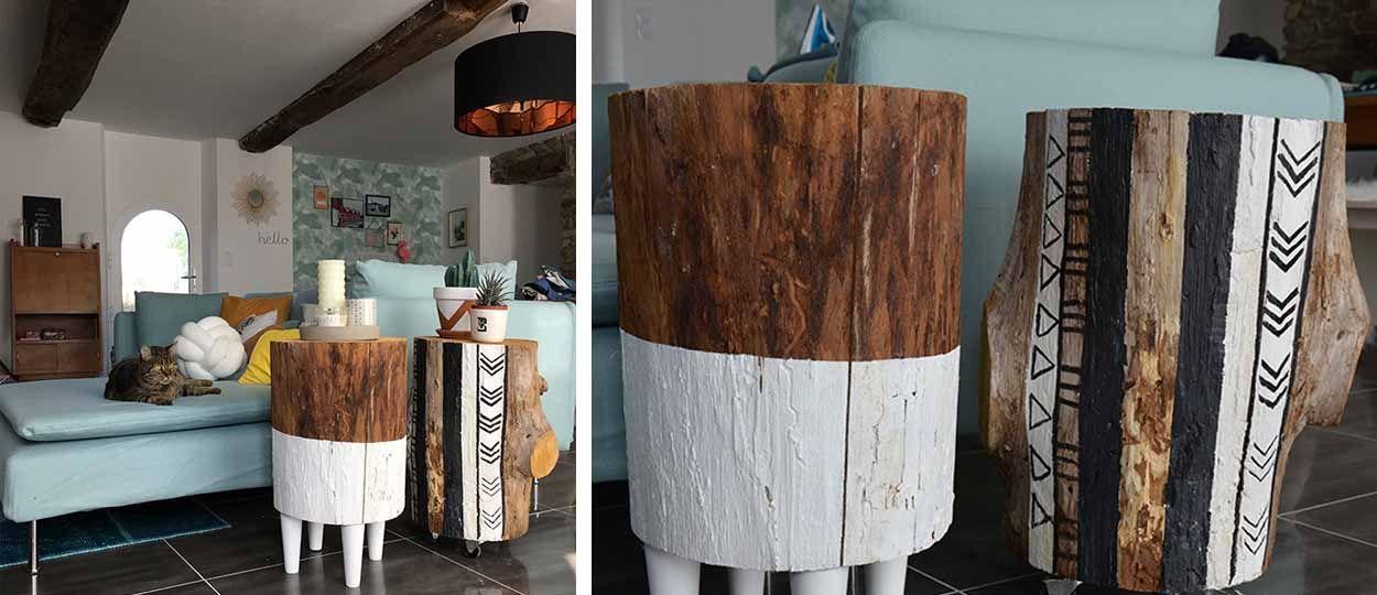 Diy construire une table d 39 appoint en bois table d - Fabriquer une table d appoint ...