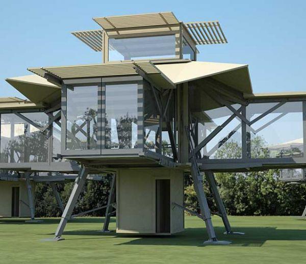 Cette étonnante maison modulable et écolo se déplie en 8 minutes
