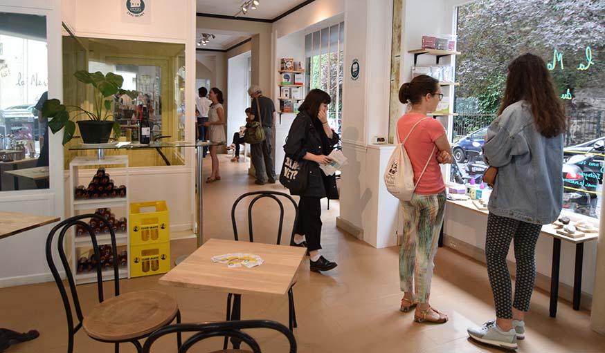 Côté boutique, lors de la pré-ouverture de la Maison du Zéro Déchet.