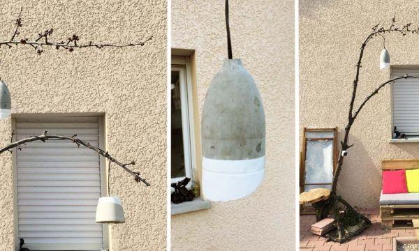 Tuto : Fabriquez des lampes de jardin en béton pour 6 € seulement