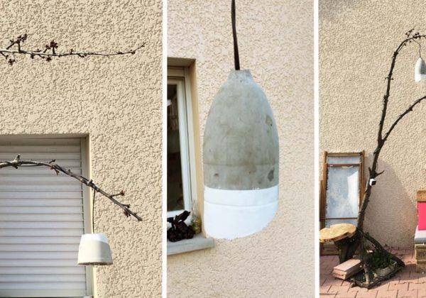 DIY : Fabriquez des suspensions en béton pour le jardin - Lampes en ...