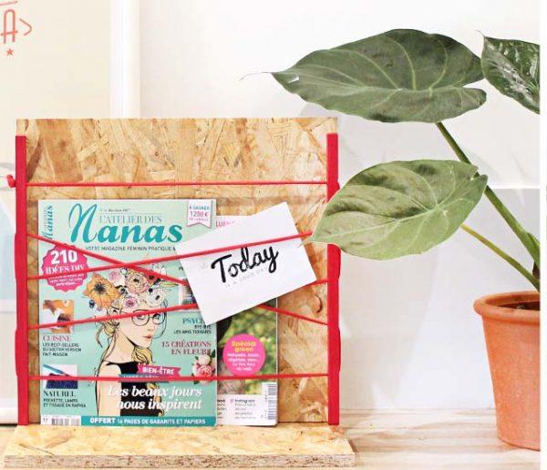 Tuto : Fabriquez un porte-revues bois et fil pour un intérieur stylé... et bien rangé
