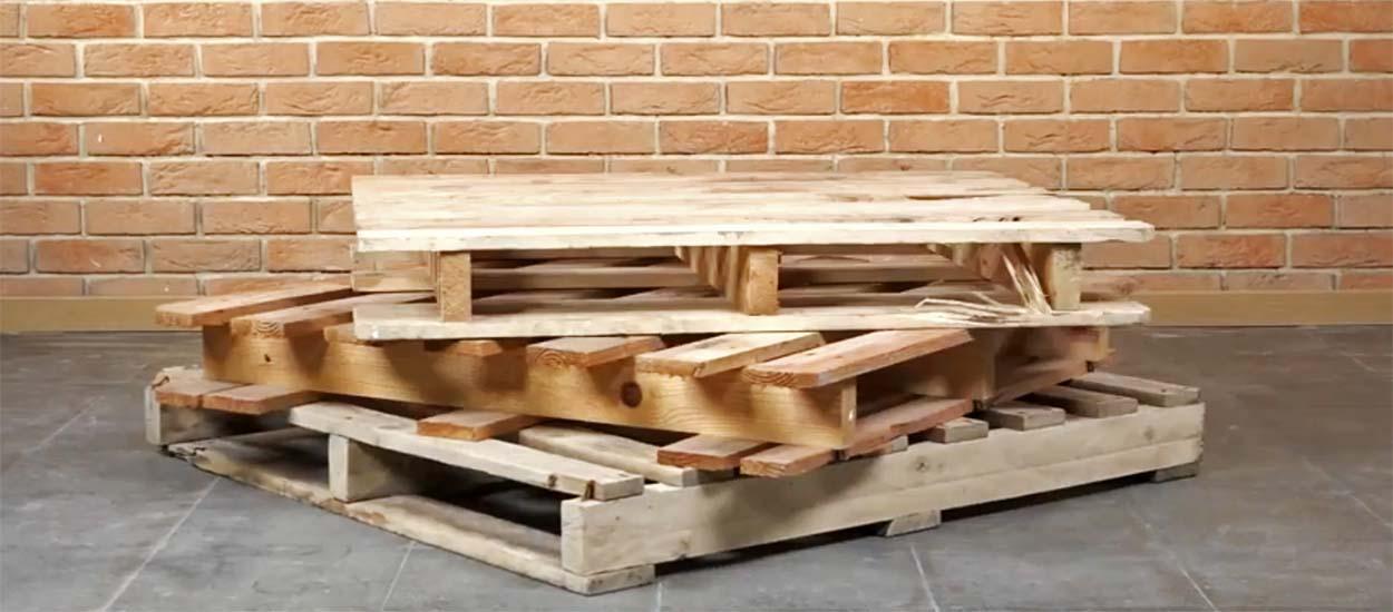 Palette europe usag/ée 80 x 120 cm id/éal pour fabrication de mobilier en bois